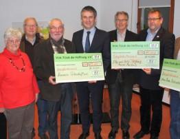 41.000 Euro für ehrenamtliche Einrichtungen aus der Region