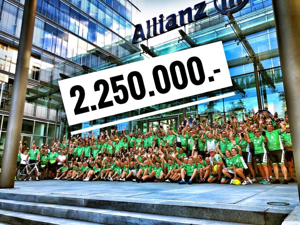 Das Spendenergebnis der TOUR der Hoffnung 2018 beträgt 2 Millionen 250000 Euro