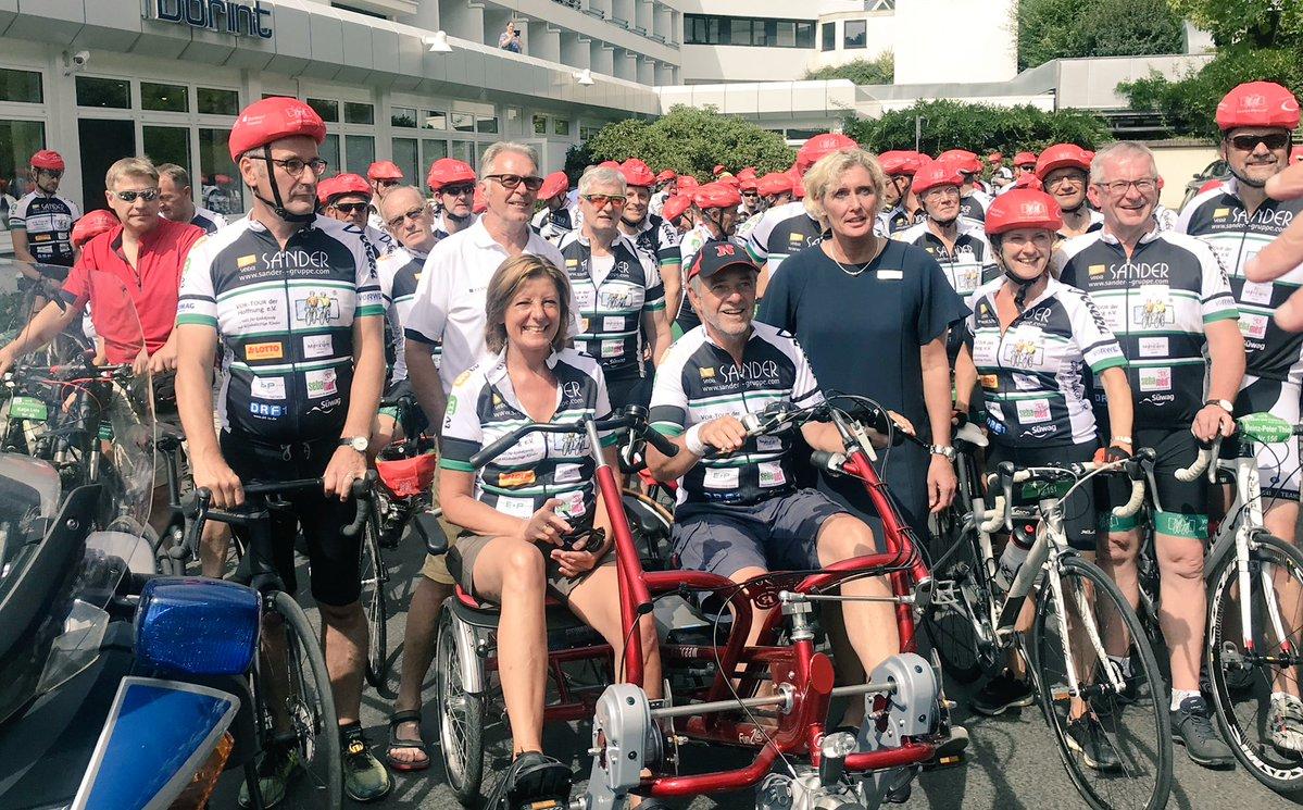 Ministerpräsidentin Malu Dreyer radelt mit bei der VOR-TOUR der Hoffnung