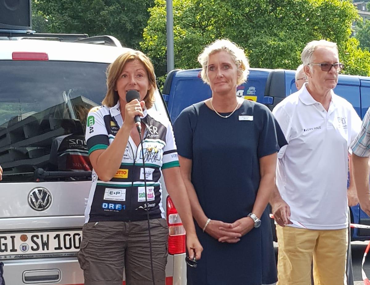 Die Ministerpräsidentin Malu Dreyer tritt auch in diesem Jahr wieder für dei VOR-Tour der Hoffnung in die Pedale