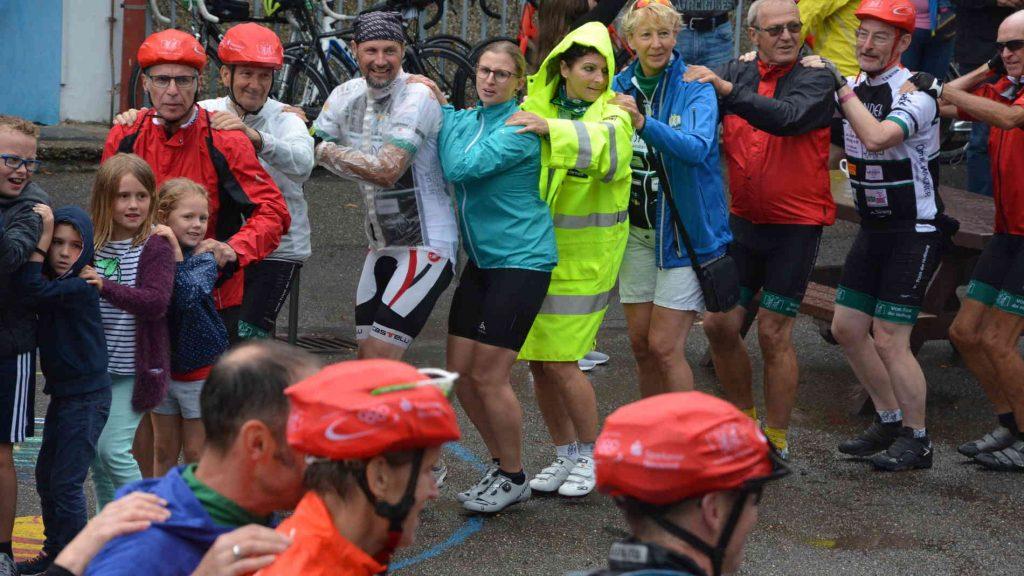 Auch der Regen konnte die Freude in Osburg nicht trüben