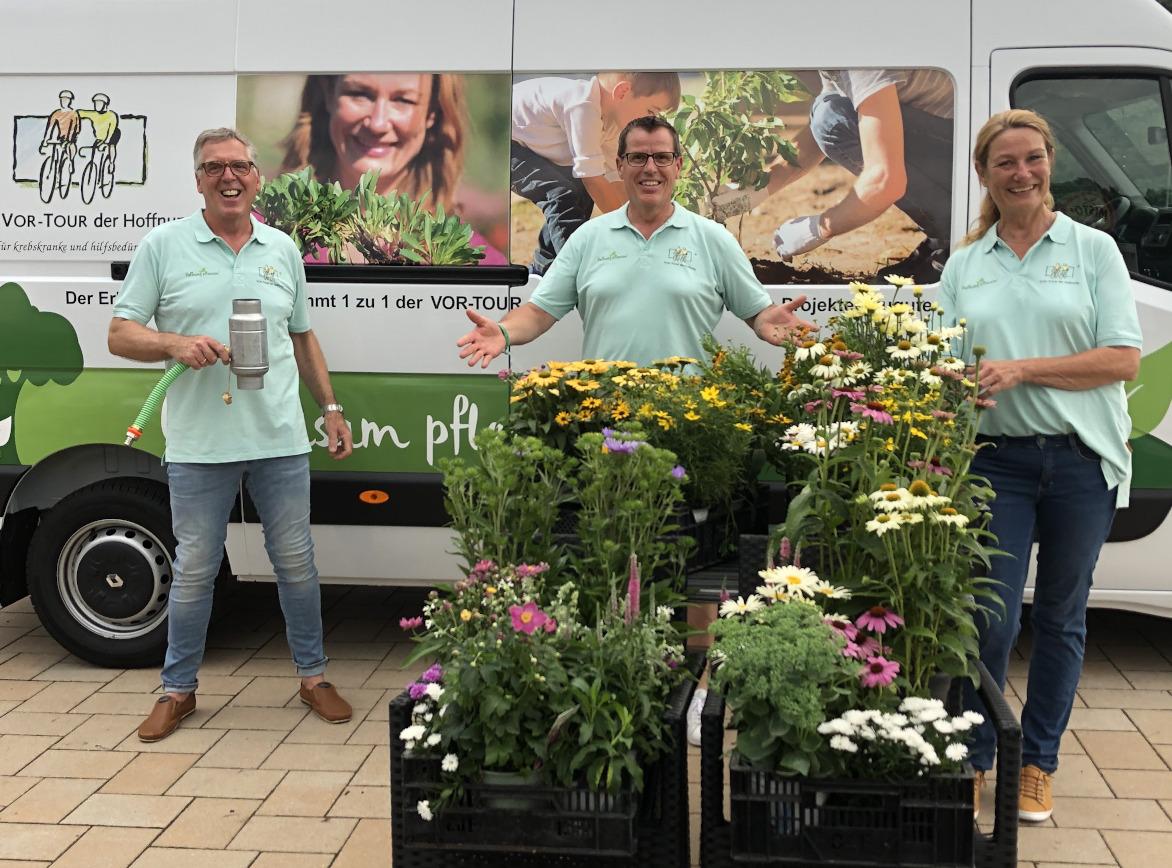 Hoffnung Pflanzen ist eine Aktion von Heike Boomgaarden und Werner Ollig zugunsten der Vor-Tour der Hoffnung